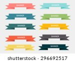 vector set 10 ribbons | Shutterstock .eps vector #296692517
