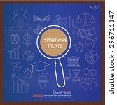 business plan.business concept... | Shutterstock .eps vector #296711147