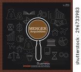 merger acquisition. merger... | Shutterstock .eps vector #296733983