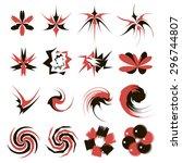 abstract vector sign. symbol.... | Shutterstock .eps vector #296744807