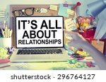 business relationships concept | Shutterstock . vector #296764127