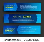 abstract banner material design.... | Shutterstock .eps vector #296801333