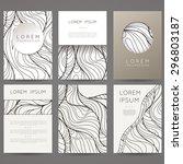 set of vector design templates. ... | Shutterstock .eps vector #296803187
