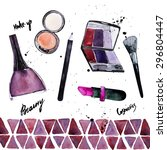 vector watercolor glamorous... | Shutterstock .eps vector #296804447