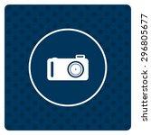 photo camera. icon. vector... | Shutterstock .eps vector #296805677