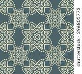 seamless flower pattern... | Shutterstock .eps vector #296805773