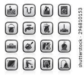 cleaning and hygiene icons  ... | Shutterstock .eps vector #296810153