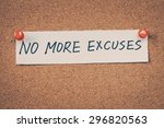 no more excuses   Shutterstock . vector #296820563