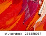 Oil Painting  Texture In Red...