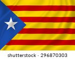 catalonia estelada   catalan... | Shutterstock . vector #296870303