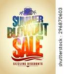 summer blowout sale text design ... | Shutterstock .eps vector #296870603