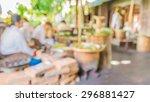 image of blur food market in... | Shutterstock . vector #296881427