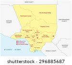 los angeles county regions map | Shutterstock .eps vector #296885687