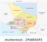 los angeles county regions map   Shutterstock .eps vector #296885693