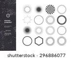 set of vintage sunbursts.... | Shutterstock .eps vector #296886077