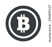 bitcoin symbol in circle  on...