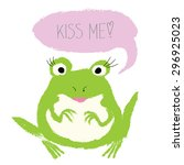 Cute Frog Kiss Me   Watercolor...