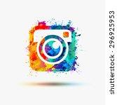 photo camera icon. vector... | Shutterstock .eps vector #296925953