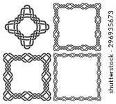 set of magic knotting frames... | Shutterstock .eps vector #296935673