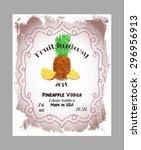 vintage fruit alcohol label.... | Shutterstock .eps vector #296956913