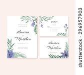 unique gentle vector wedding... | Shutterstock .eps vector #296957903