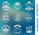 set of summer holidays badges.... | Shutterstock .eps vector #297003707