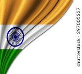 flag of india  in silk ... | Shutterstock . vector #297005327