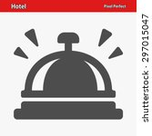 hotel bell icon. eps 8 format. | Shutterstock .eps vector #297015047
