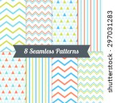 set of seamless patterns with... | Shutterstock .eps vector #297031283