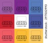 vector illustration of modern... | Shutterstock .eps vector #297032993