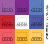 vector illustration of modern... | Shutterstock .eps vector #297033233