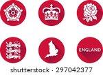 Постер, плакат: England Flat Icon Set