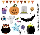 halloween set. raster version | Shutterstock . vector #297044327