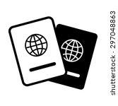 passport icon   travel ... | Shutterstock .eps vector #297048863