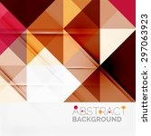 abstract geometric background.... | Shutterstock .eps vector #297063923
