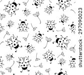 vector seamless pattern with... | Shutterstock .eps vector #297090023