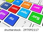 website and internet domain... | Shutterstock . vector #297092117