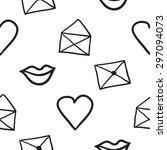 black outline hand drawn vector ... | Shutterstock .eps vector #297094073
