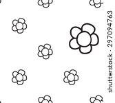 black outline hand drawn vector ... | Shutterstock .eps vector #297094763