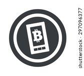 bitcoin symbol on smartphone...