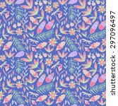 bright doodle color background. ... | Shutterstock .eps vector #297096497