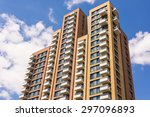new block of modern apartments... | Shutterstock . vector #297096893