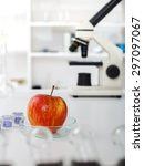 chemical laboratory of the food ... | Shutterstock . vector #297097067
