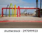 imperial beach  california  ... | Shutterstock . vector #297099923