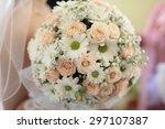 closeup of beautiful wedding... | Shutterstock . vector #297107387