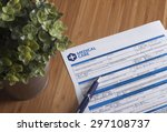 a printed new patient... | Shutterstock . vector #297108737
