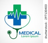 medical pharmacy logo design... | Shutterstock .eps vector #297130403