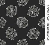 wood box doodle seamless... | Shutterstock . vector #297140273