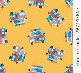 transportation police car flat... | Shutterstock .eps vector #297147857