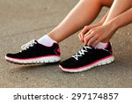 body parts of runner woman... | Shutterstock . vector #297174857